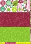 Set cartes et scrap Collection Sorbets Citron Cassis