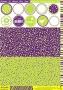 Set cartes et scrap Collection Sorbets Myrtille Kiwi