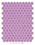 Alphabet hexagones Violette