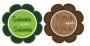 Etiquettes rondes fleuries