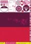 Set cartes et scrap Collection Sorbets Prune-raisin